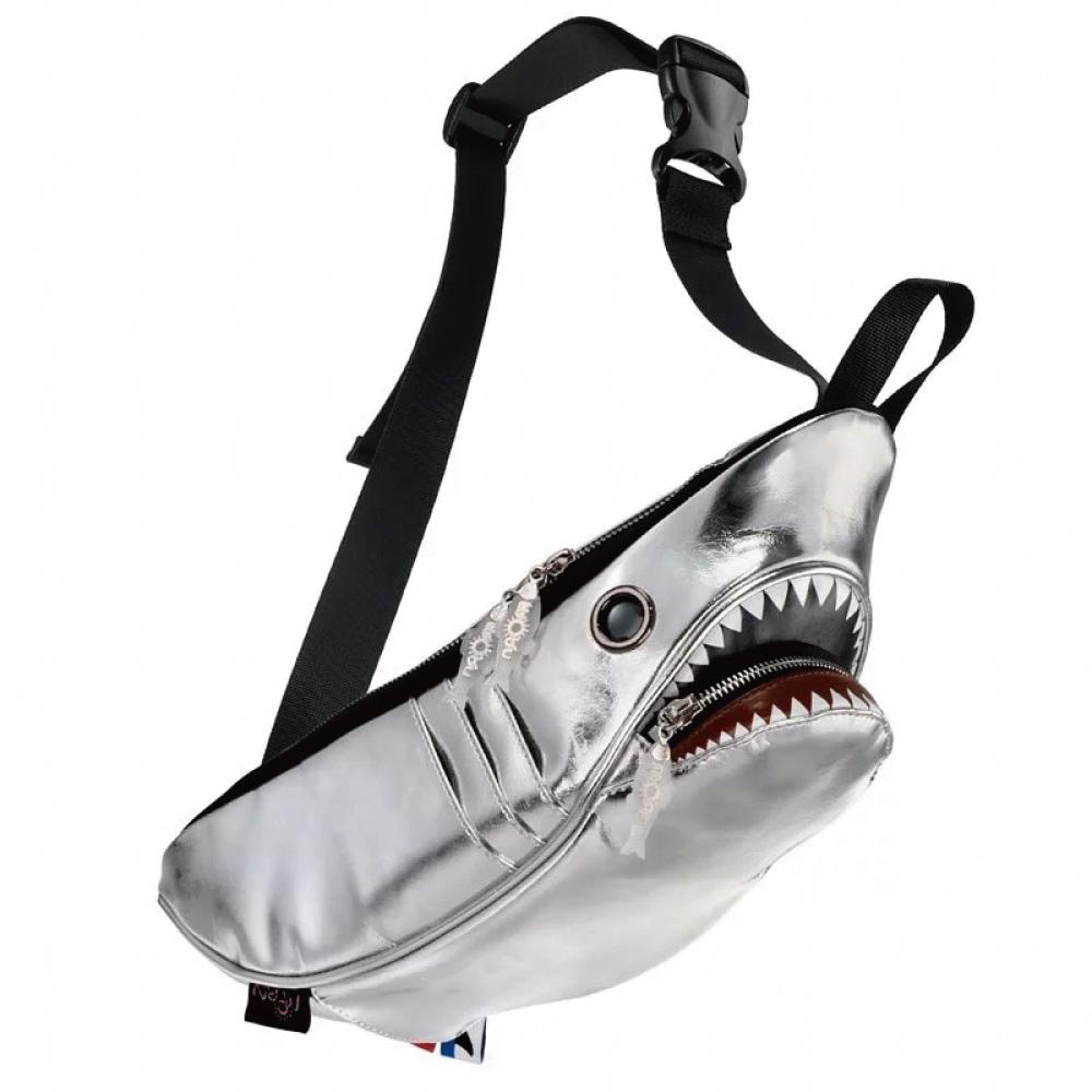 Morn Creations 正版鯊魚腰包 SK-510-SL 銀