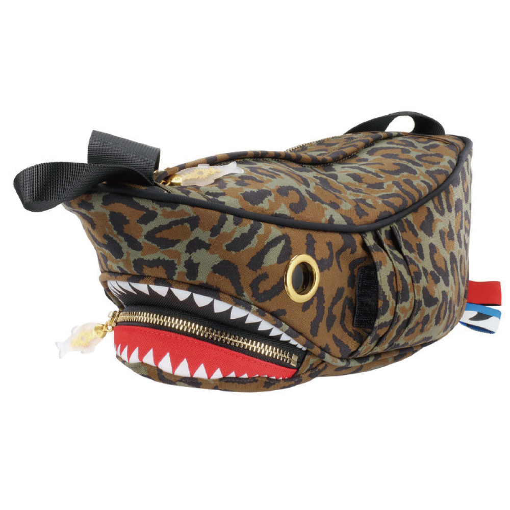 Morn Creations|正版鯊魚腰包 SK-410-LC 豹紋