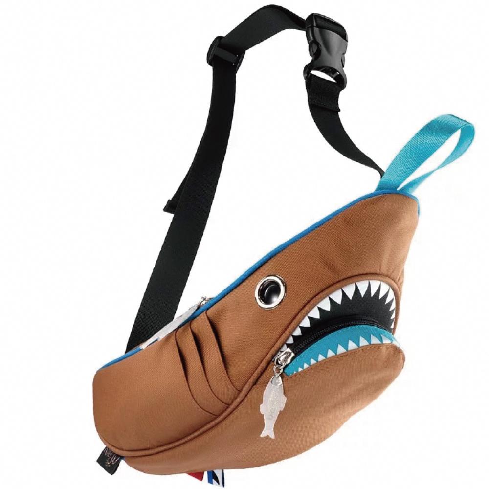Morn Creations|正版鯊魚腰包 SK-210-BR 撞色咖