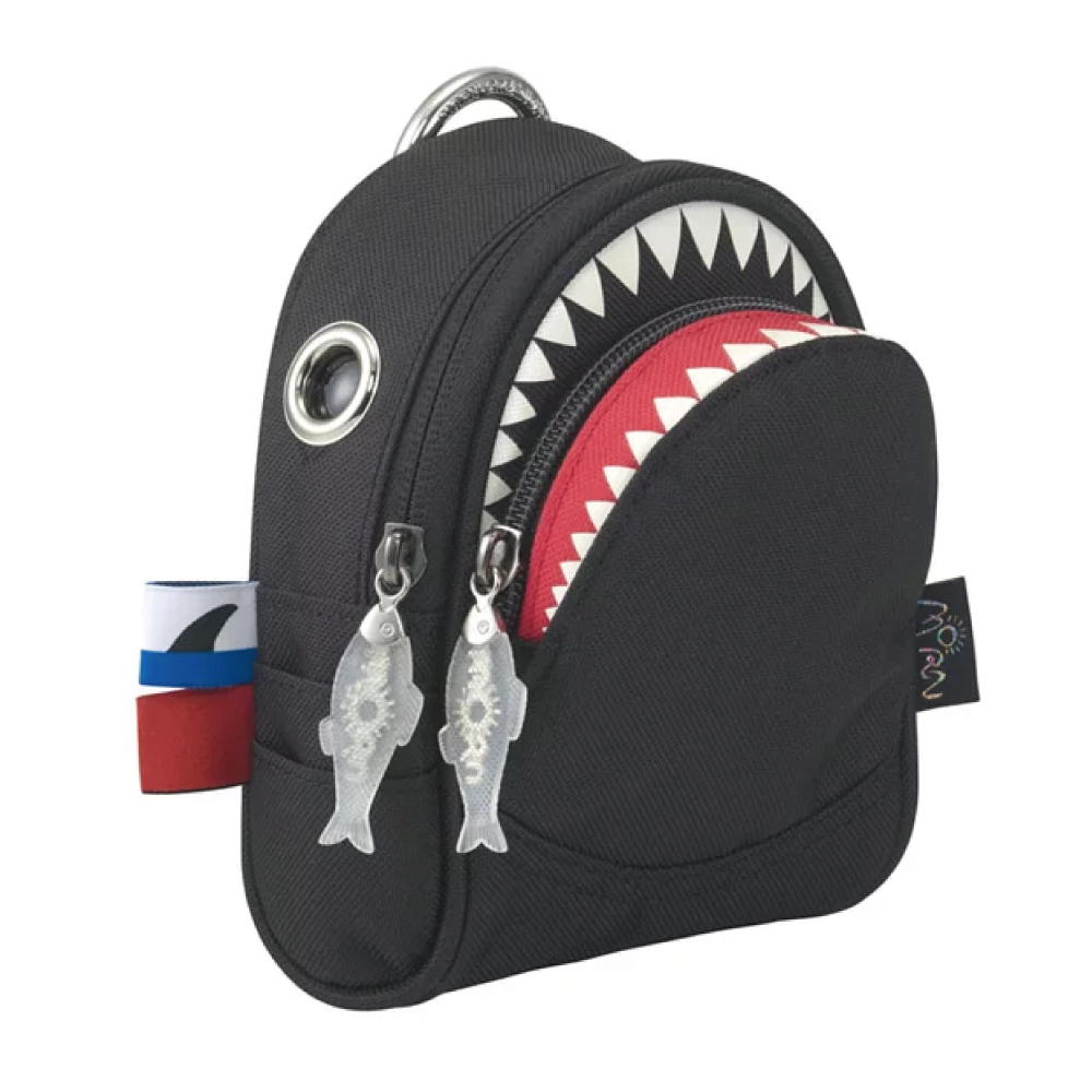 Morn Creations|正版鯊魚隨身零錢包 SK-105-BK 黑