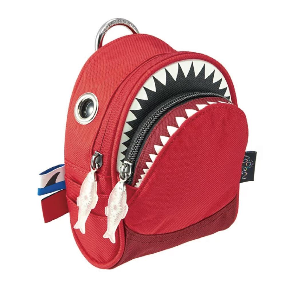 Morn Creations 正版鯊魚隨身零錢包 SK-205-RD 紅