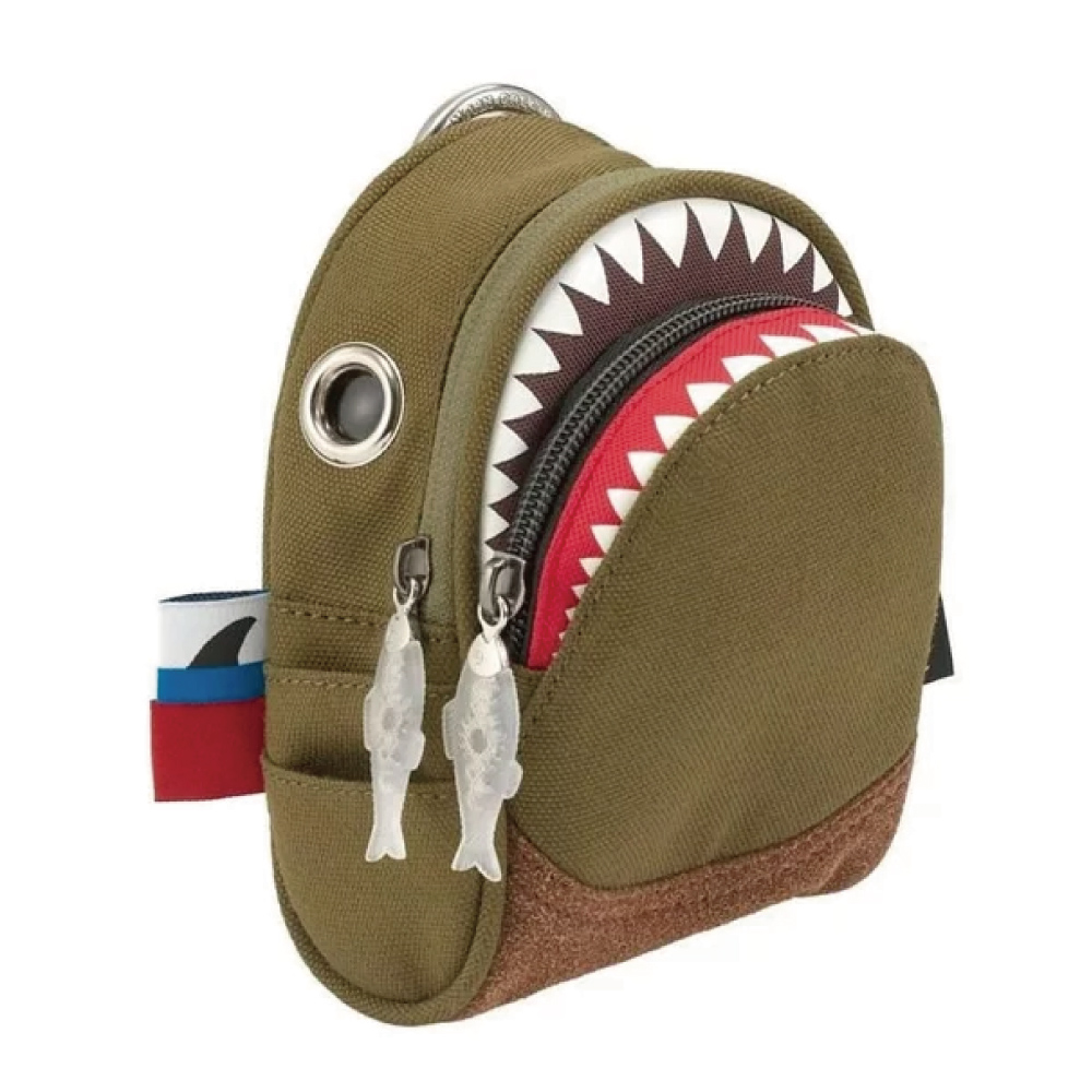 Morn Creations|正版鯊魚隨身零錢包 SK-108-GB 綠棕色