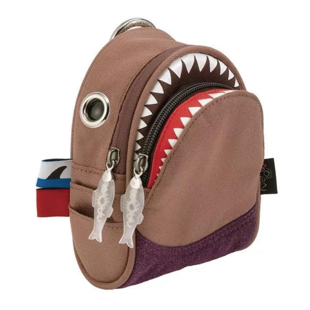 Morn Creations|正版鯊魚隨身零錢包 SK-108-PB 紫棕色