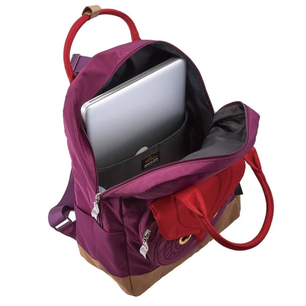 Morn Creations|原廠熊貓SCHOOL系列電腦後背包 SB-201-PR 紫色