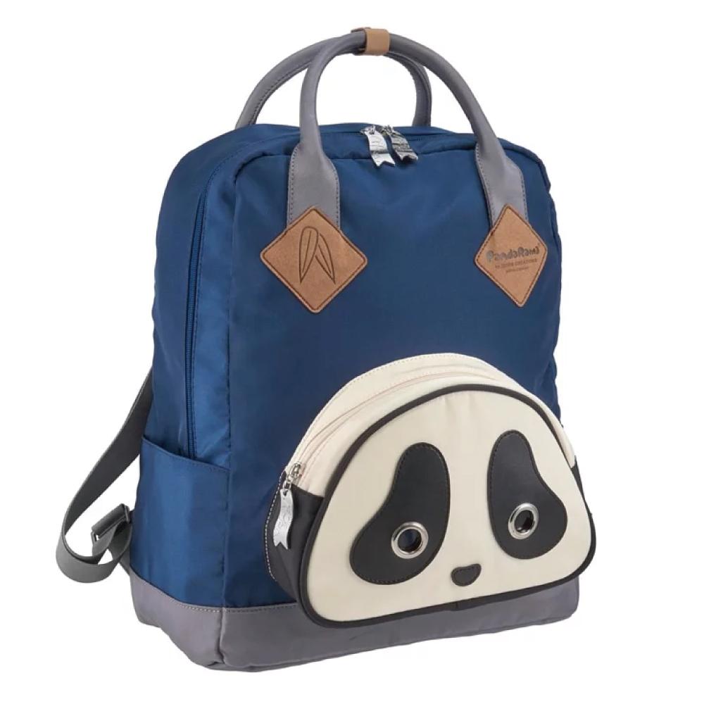 Morn Creations|原廠熊貓SCHOOL系列電腦後背包 SB-102-BL (M) 藍