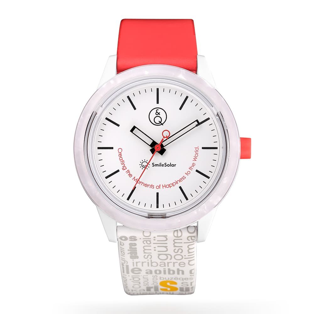 Q&Q SmileSolar|巴賽爾系列太陽能手錶 鋯石白Large 40mm