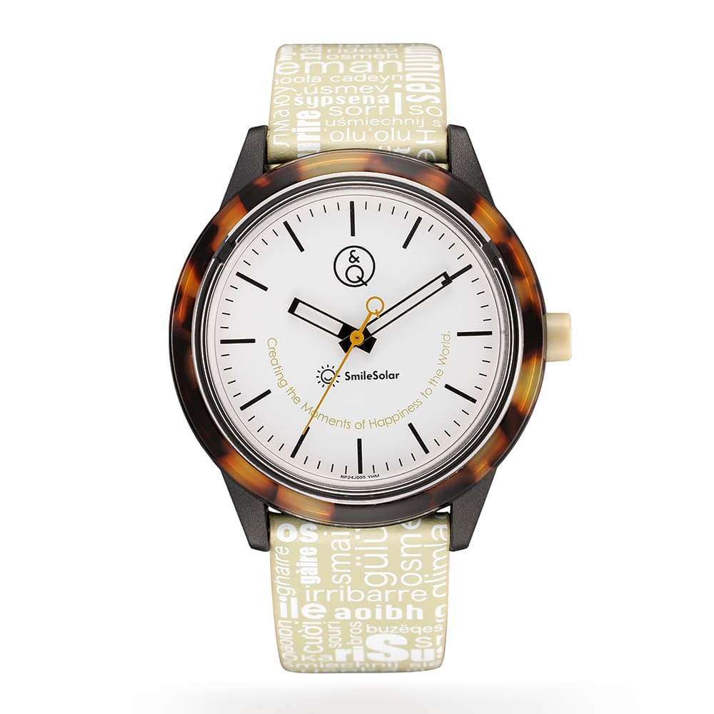 Q&Q SmileSolar|巴賽爾系列太陽能手錶 琥珀米Large 40mm