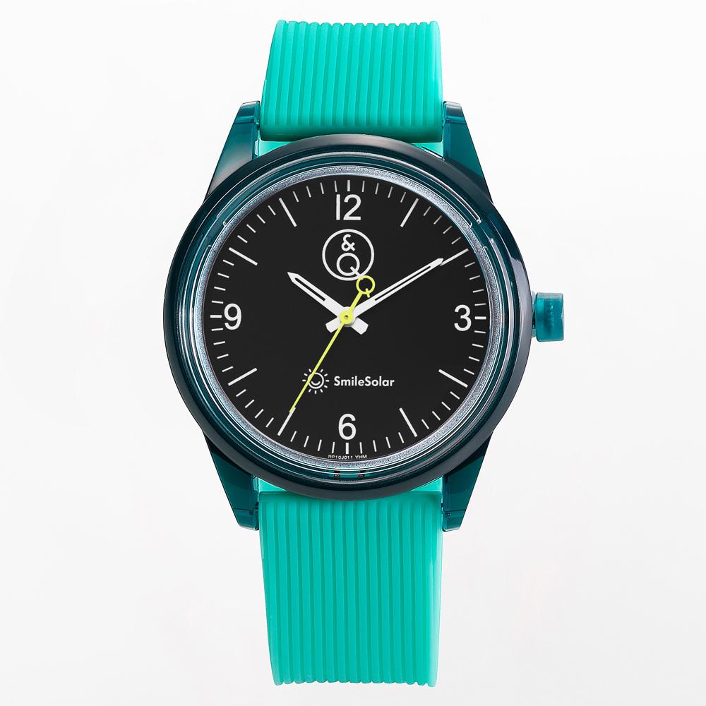 Q&Q SmileSolar|太陽能手錶 春夏玩色系列011 這是綠 40mm