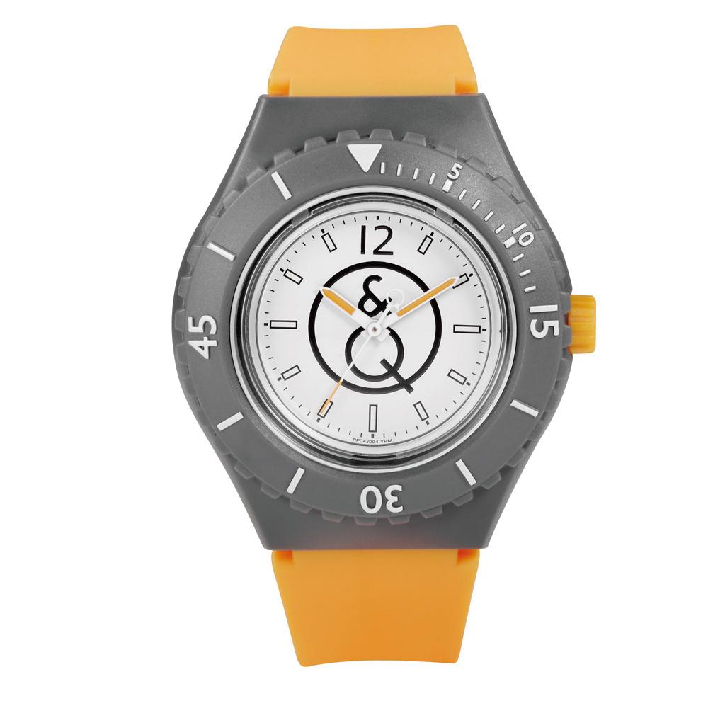 Q&Q SmileSolar 004太陽能潛水錶 螢光橘 43mm
