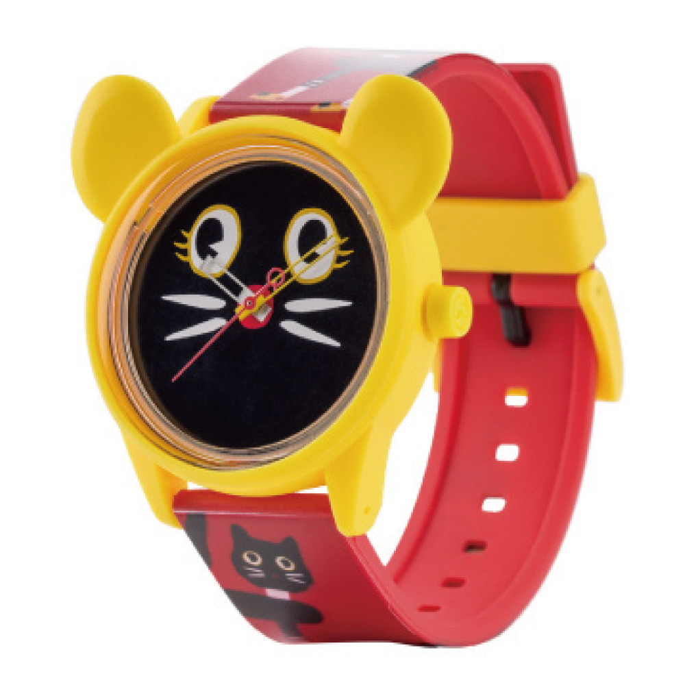 Q&Q SmileSolar 米蘭時裝款 限量太陽能錶 黑貓米奇 40mm