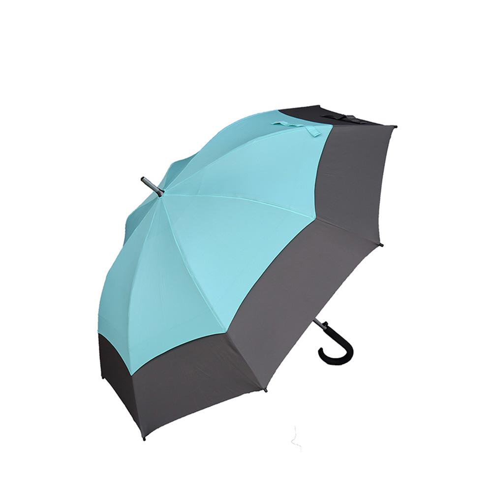 嘉雲製傘 JIAYUN|27吋抗風直骨傘 (湖水藍/鐵灰)