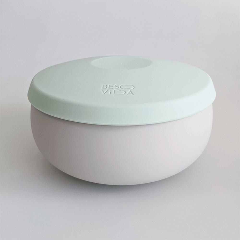 Besovida|胖胖全矽膠環保碗  / 薄荷綠