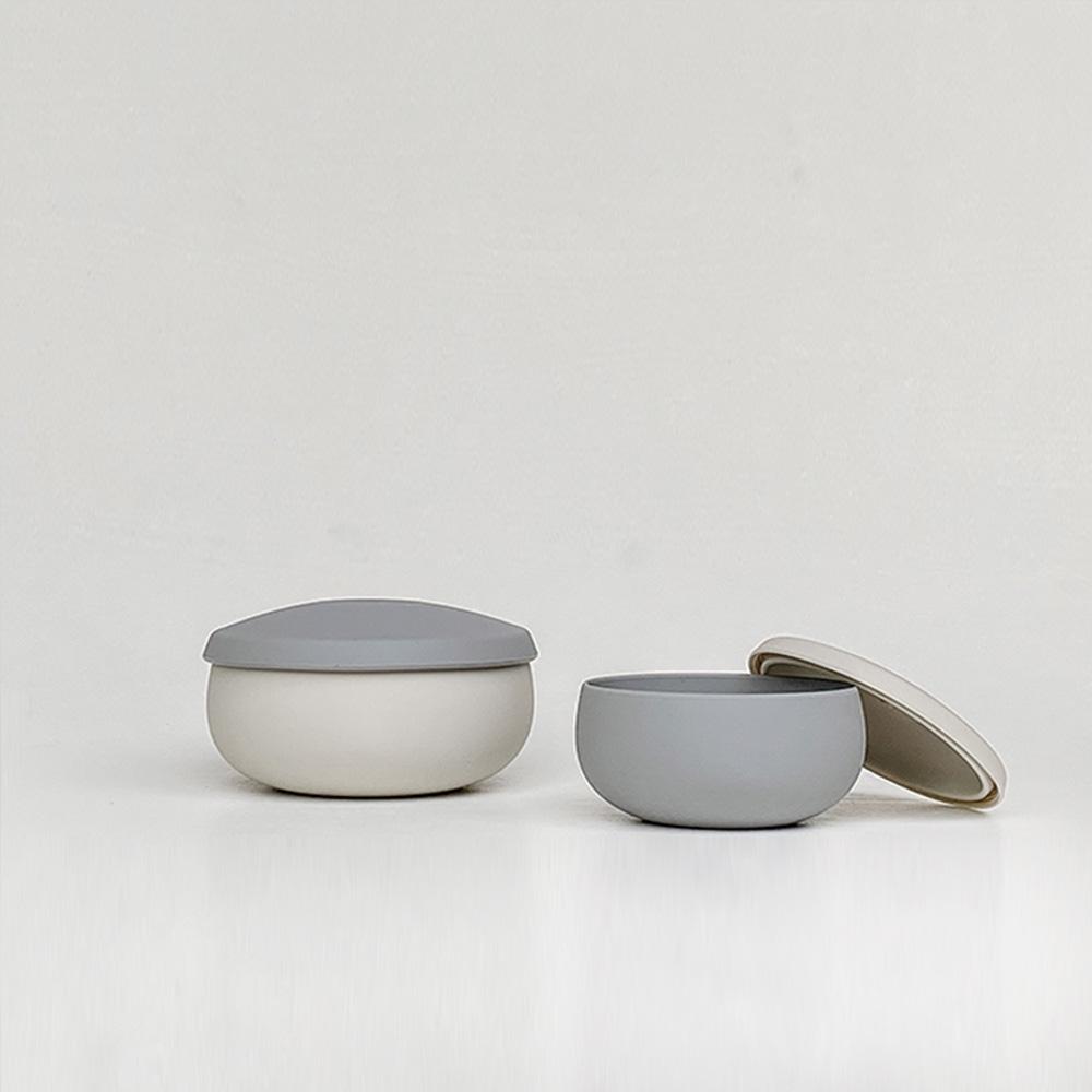 Besovida|雙雙全矽膠環保碗  /  雲霧灰