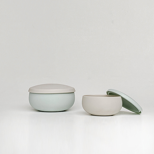 Besovida 雙雙全矽膠環保碗  /  薄荷綠
