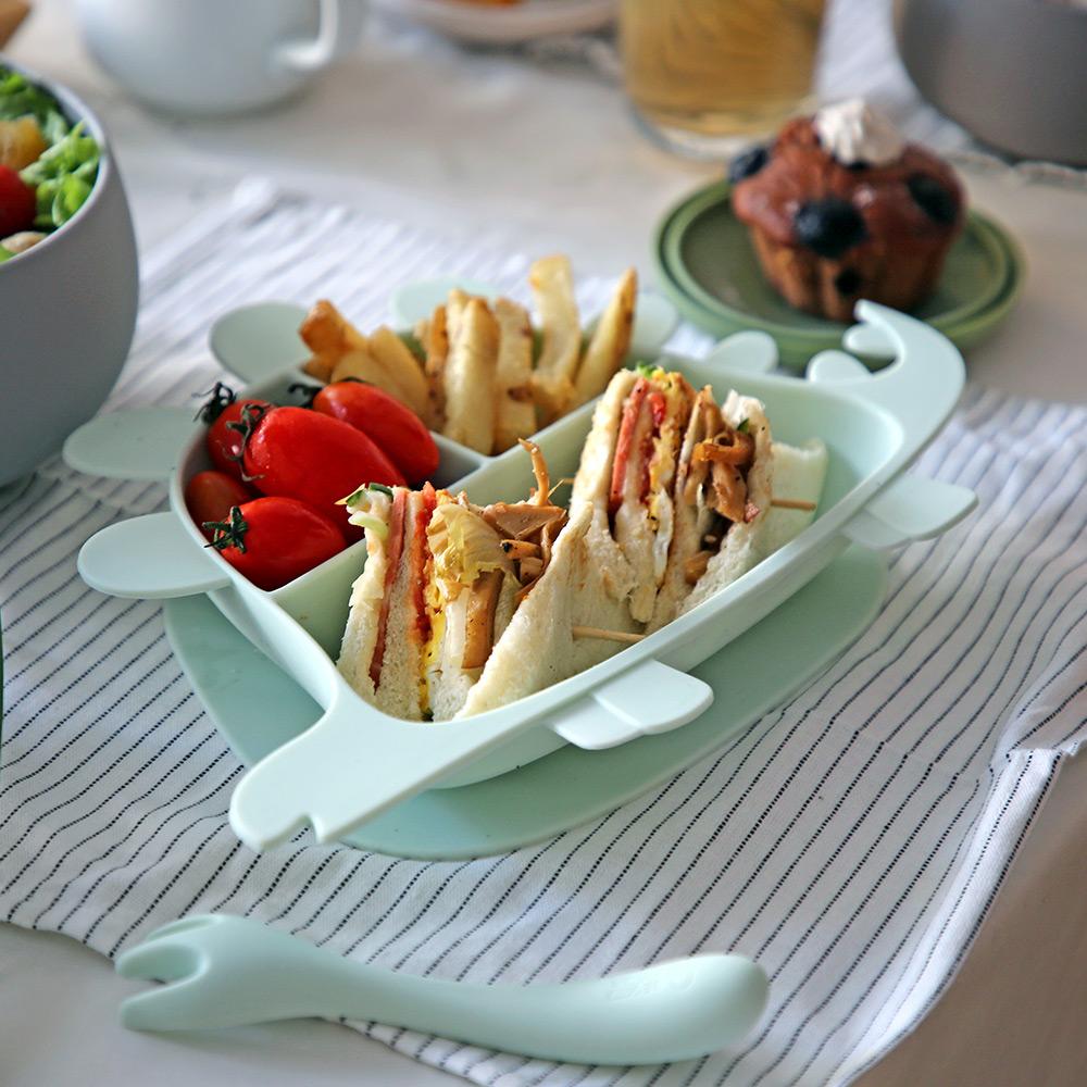 Besovida 劍龍兒童學習餐盤  /  薄荷綠