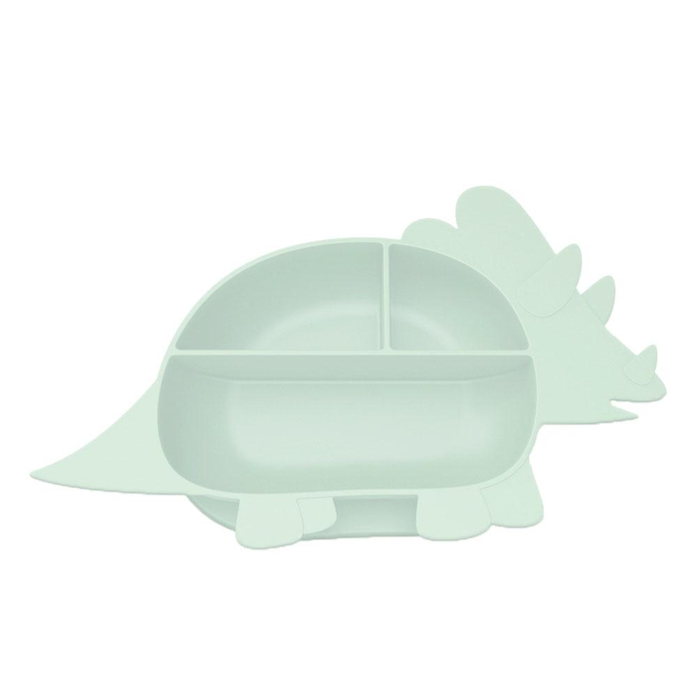 Besovida 三角龍兒童學習餐盤  /  薄荷綠