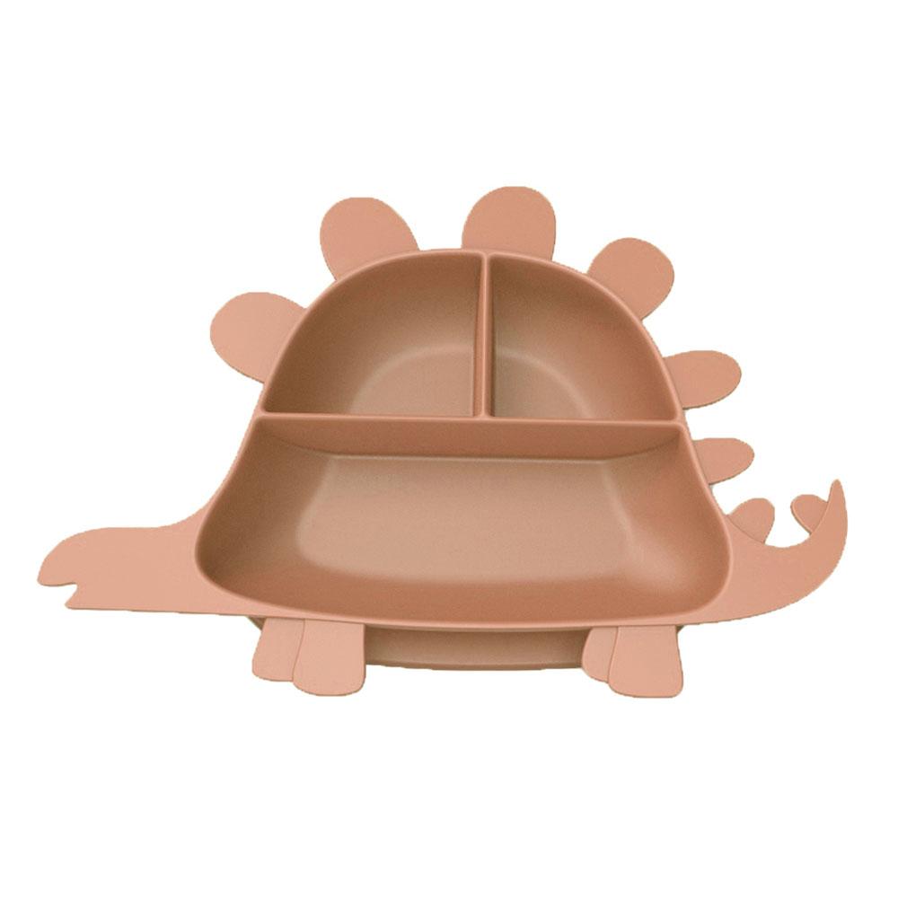 Besovida 劍龍兒童學習餐盤  /  栗子棕