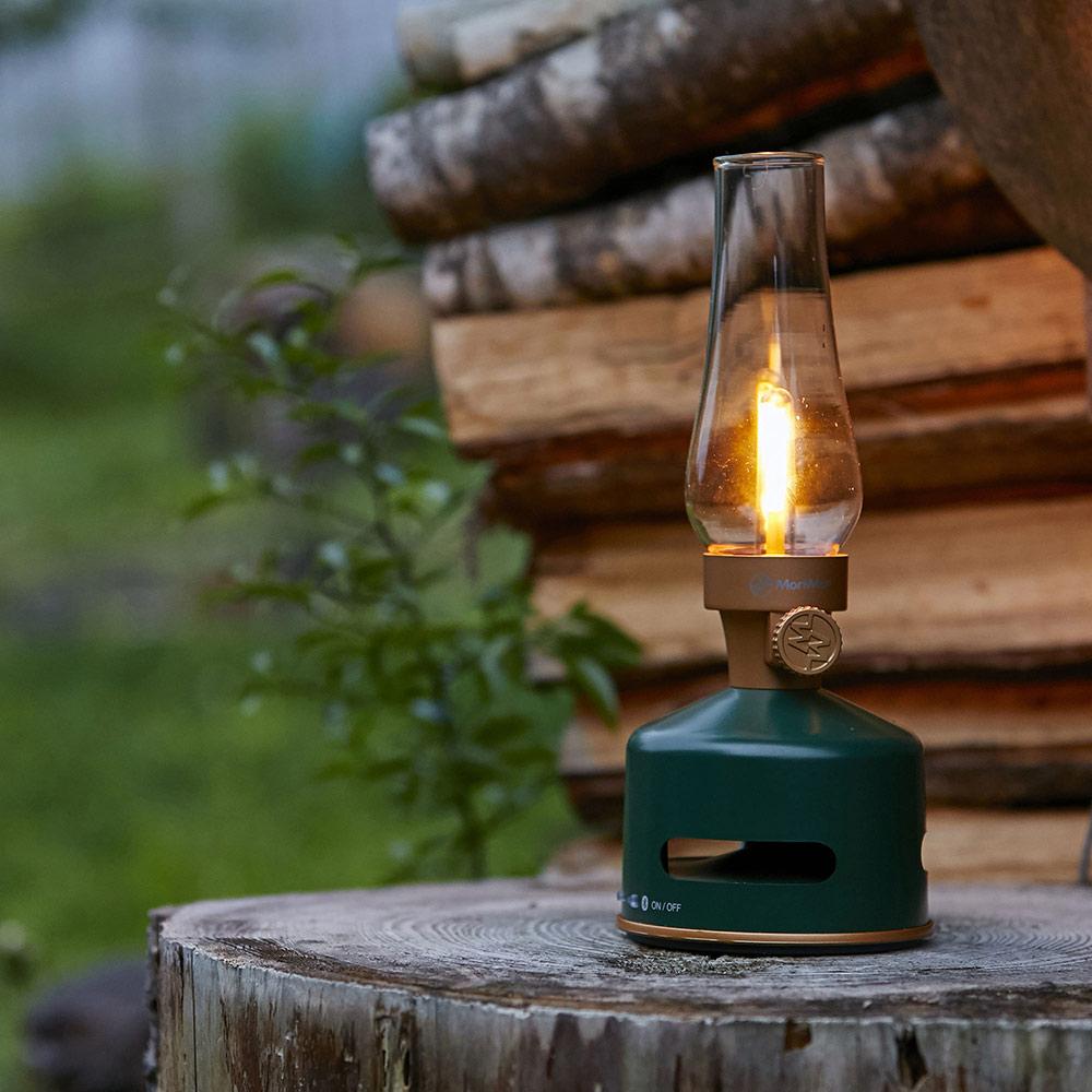 MoriMori|LED煤油燈藍牙音響(深綠)