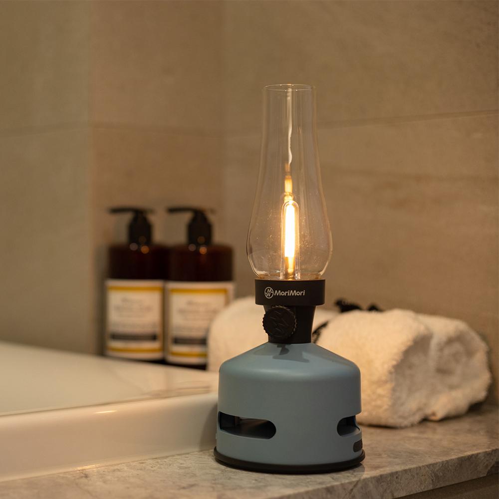 MoriMori|LED煤油燈藍牙音響(晴空藍限量色)