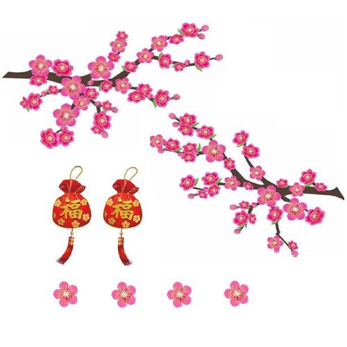 Kiss貼貼|靜電無痕春聯 - 茂盛桃花