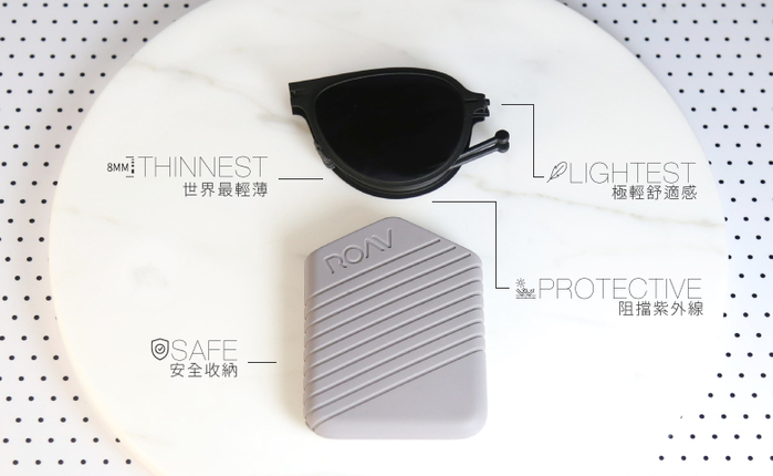 美國原創摺疊墨鏡 ROAV | Lennox- 贈限量手工職人真皮掛套