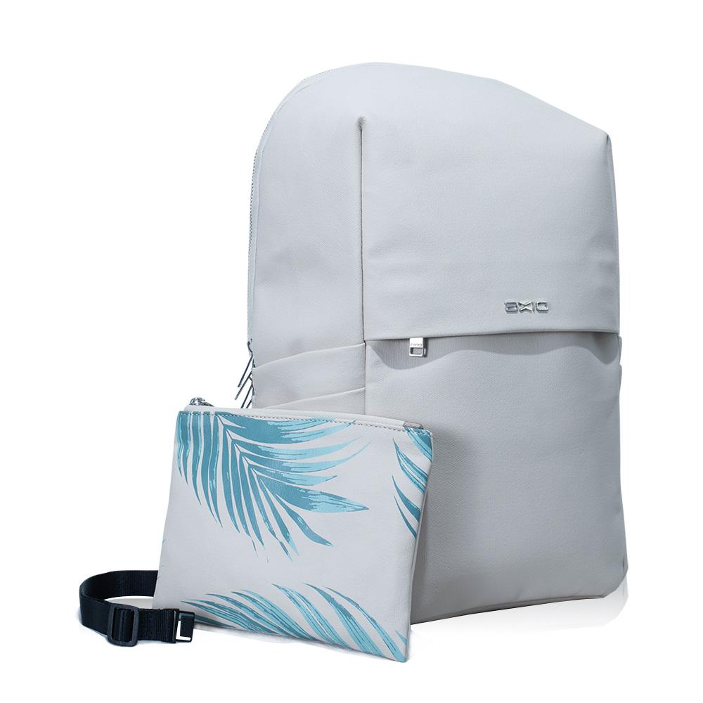 AXIO|KISS 2WAY多功能兩用子母嫩葉帆布後背包 (AKB-454) 奶茶色