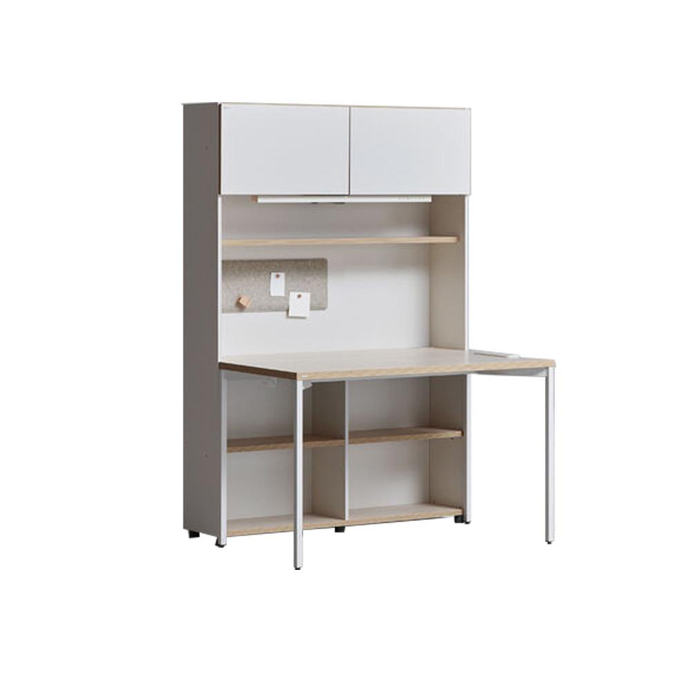 iloom 怡倫家居|Desker 1200型 五層收納書桌套組|附門板