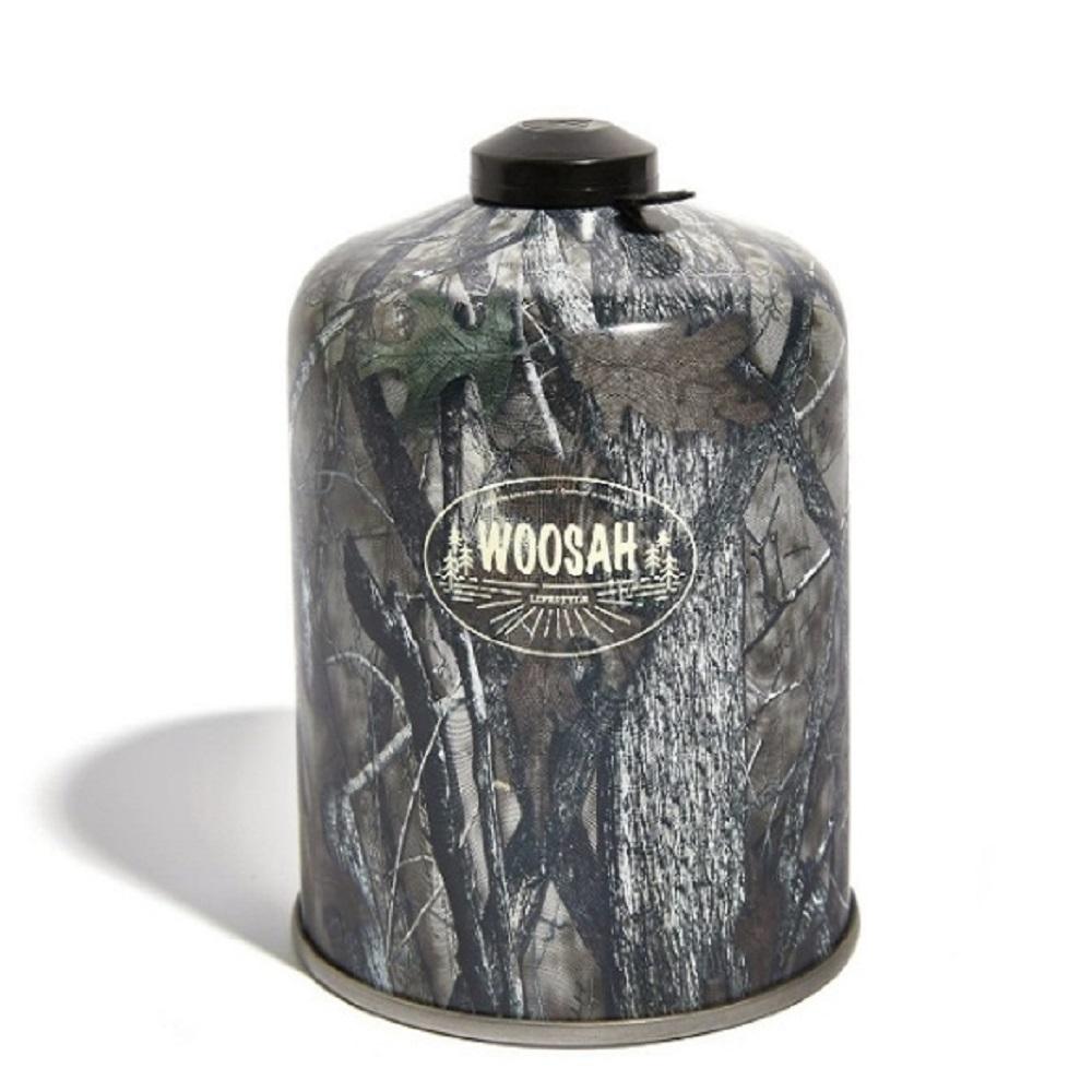 WOOSAH|有鬆迷彩瓦斯罐-高山瓦斯罐 450g (樹葉迷彩/半箱6罐)