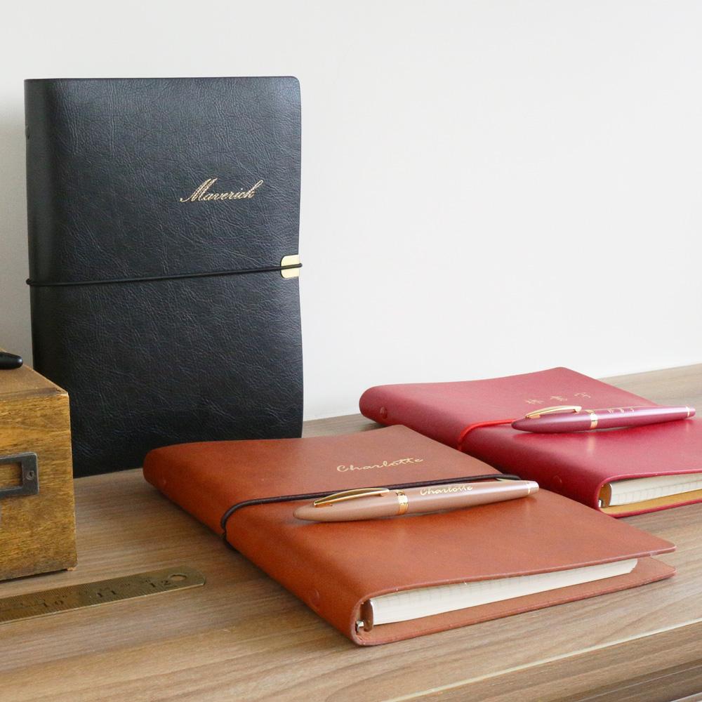 HAPPYMT (免費客製化)我的書寫套組-鋼筆+活頁手帳/筆記本