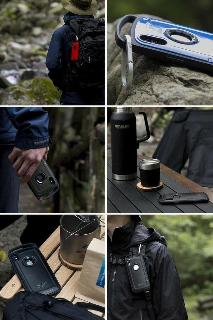 (複製)日本 ROOT CO. iPhone XR Gravity Pro 單掛勾式軍規防摔手機保護殼 - 共六色