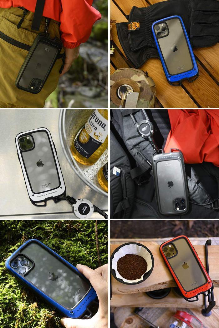 (複製)日本 ROOT CO. iPhone 11 Gravity Hold. 雙掛勾+360度旋轉登山扣 - 共六色