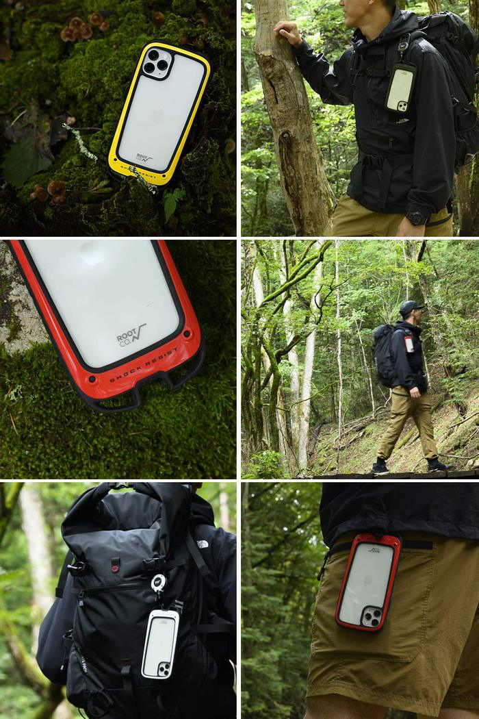 (複製)日本 ROOT CO.|iPhone 11 Pro Gravity Hold. 雙掛勾+360度旋轉登山扣 - 共六色