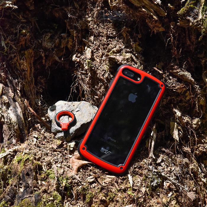 (複製)日本 ROOT CO.│iPhone SE2 / 7 / 8 Tough & Basic 透明背板+指環吊繩 - 共六色