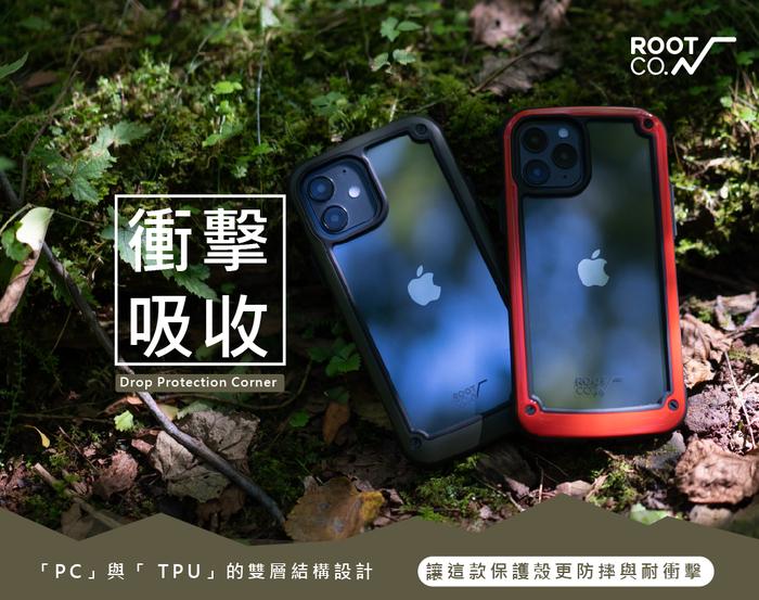 日本 ROOT CO.|iPhone 12 / 12 Pro Tough & Basic 透明背板軍規防摔手機保護殼 - 共五色