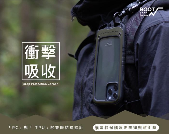 日本 ROOT CO. iPhone 12 / 12 Pro Gravity Hold. 雙掛勾+360度旋轉登山扣 - 共五色