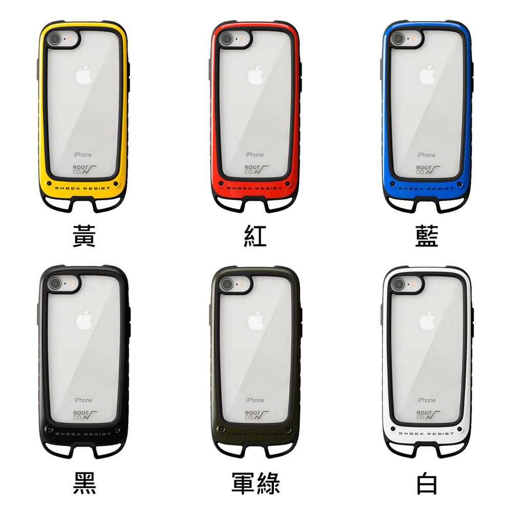 日本 ROOT CO.|iPhone SE2 / 7 / 8 Gravity Hold. 雙掛勾式軍規防摔手機保護殼 - 共六色