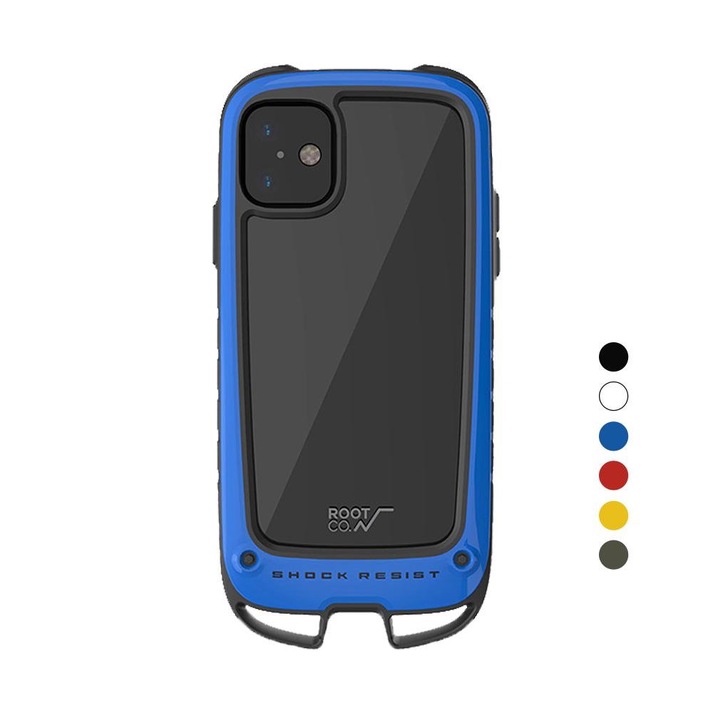 日本 ROOT CO.│iPhone 11 Gravity Hold. 雙掛勾式軍規防摔手機保護殼 - 共六色