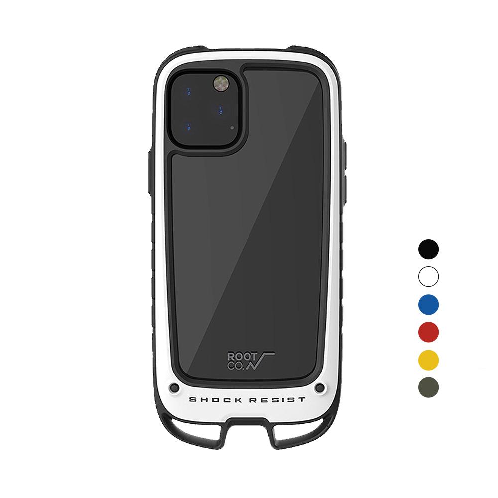 日本 ROOT CO.│iPhone 11 Pro Gravity Hold. 雙掛勾式軍規防摔手機保護殼 - 共六色