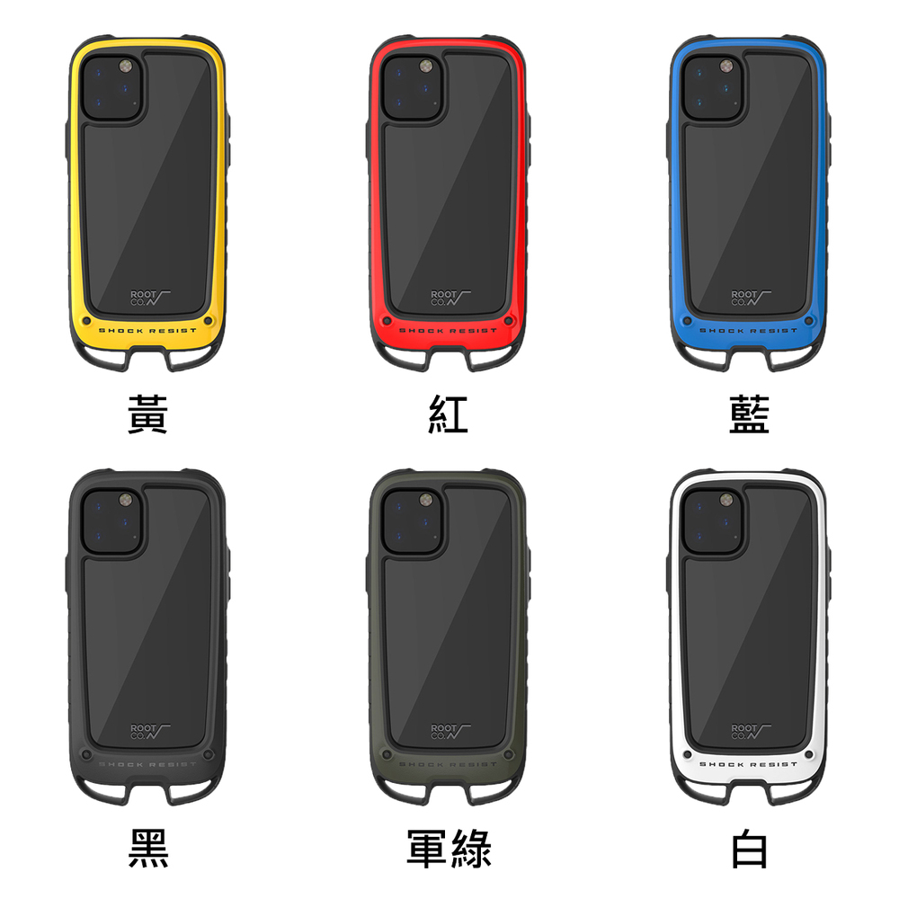 日本 ROOT CO.│iPhone 11 Pro Max Gravity Hold. 雙掛勾式軍規防摔手機保護殼 - 共六色