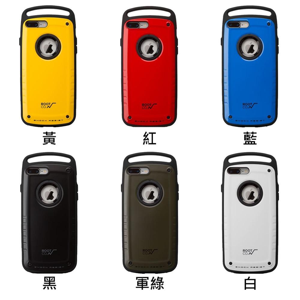 日本 ROOT CO.│iPhone 7 / 8 Plus Gravity Pro 單掛勾式軍規防摔手機保護殼 - 共六色