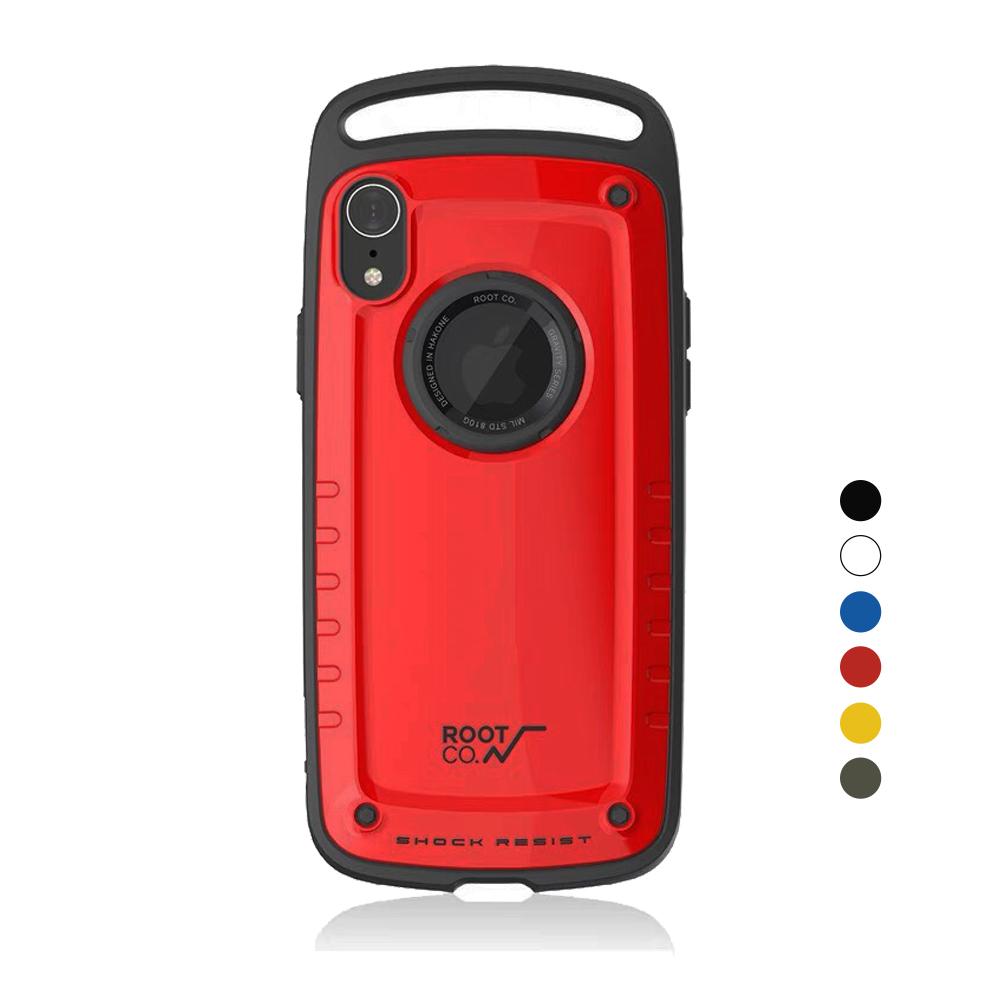 日本 ROOT CO.│iPhone XR Gravity Pro 單掛勾式軍規防摔手機保護殼 - 共六色