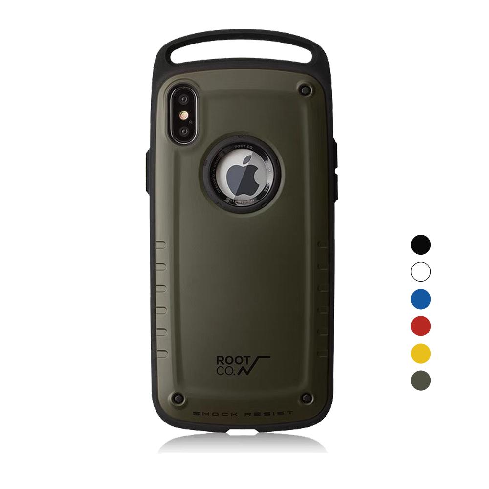 日本 ROOT CO.│iPhone Xs Max Gravity Pro 單掛勾式軍規防摔手機保護殼 - 共六色