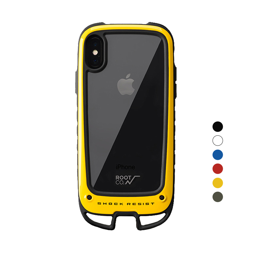 日本 ROOT CO.│iPhone X / Xs Gravity Hold. 雙掛勾式軍規防摔手機保護殼 - 共六色
