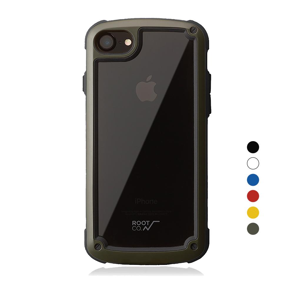 日本 ROOT CO.│iPhone SE2 / 7 / 8 Tough & Basic 透明背板軍規防摔手機保護殼 - 共六色