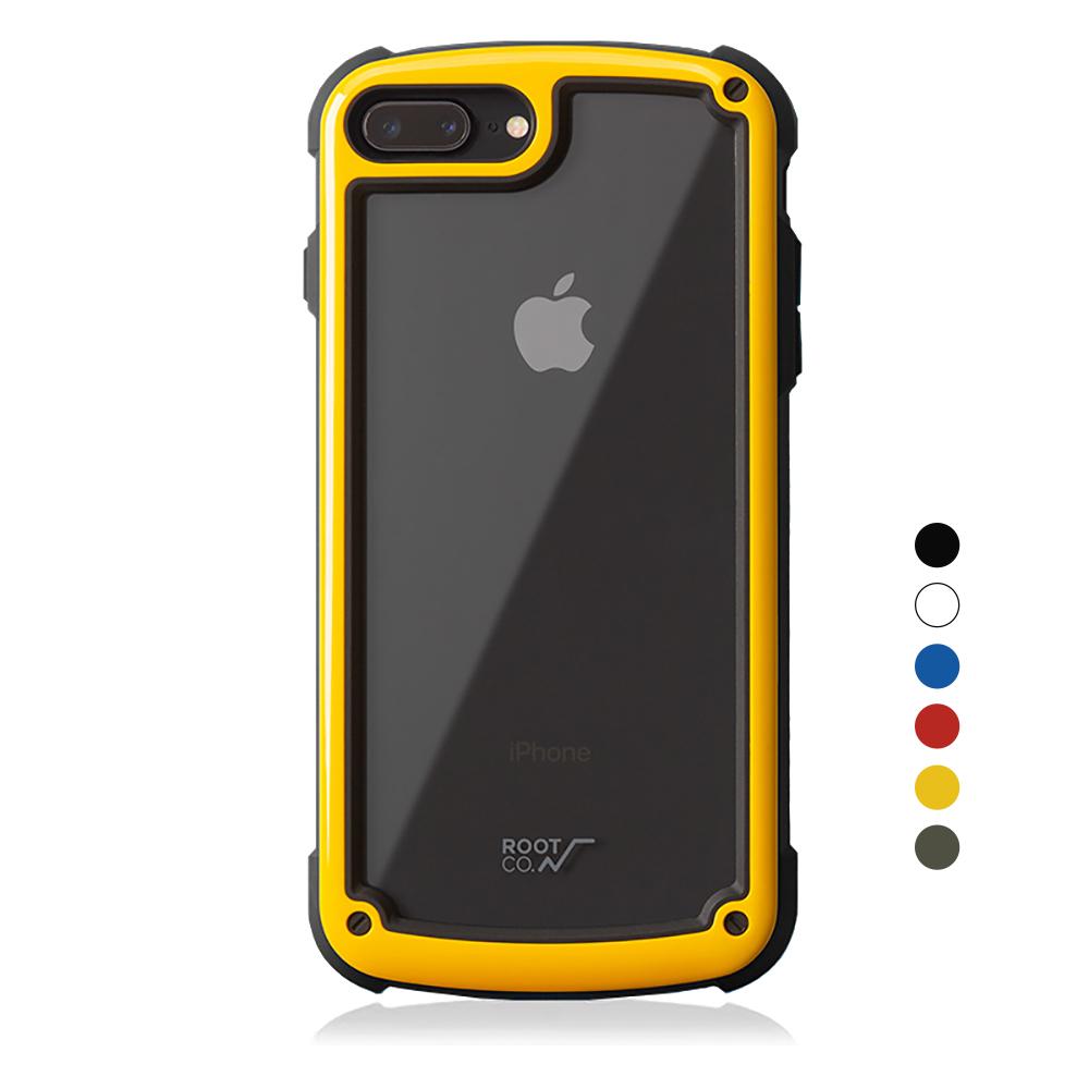 日本 ROOT CO.│iPhone 7 / 8 Plus Tough & Basic 透明背板軍規防摔手機保護殼 - 共六色