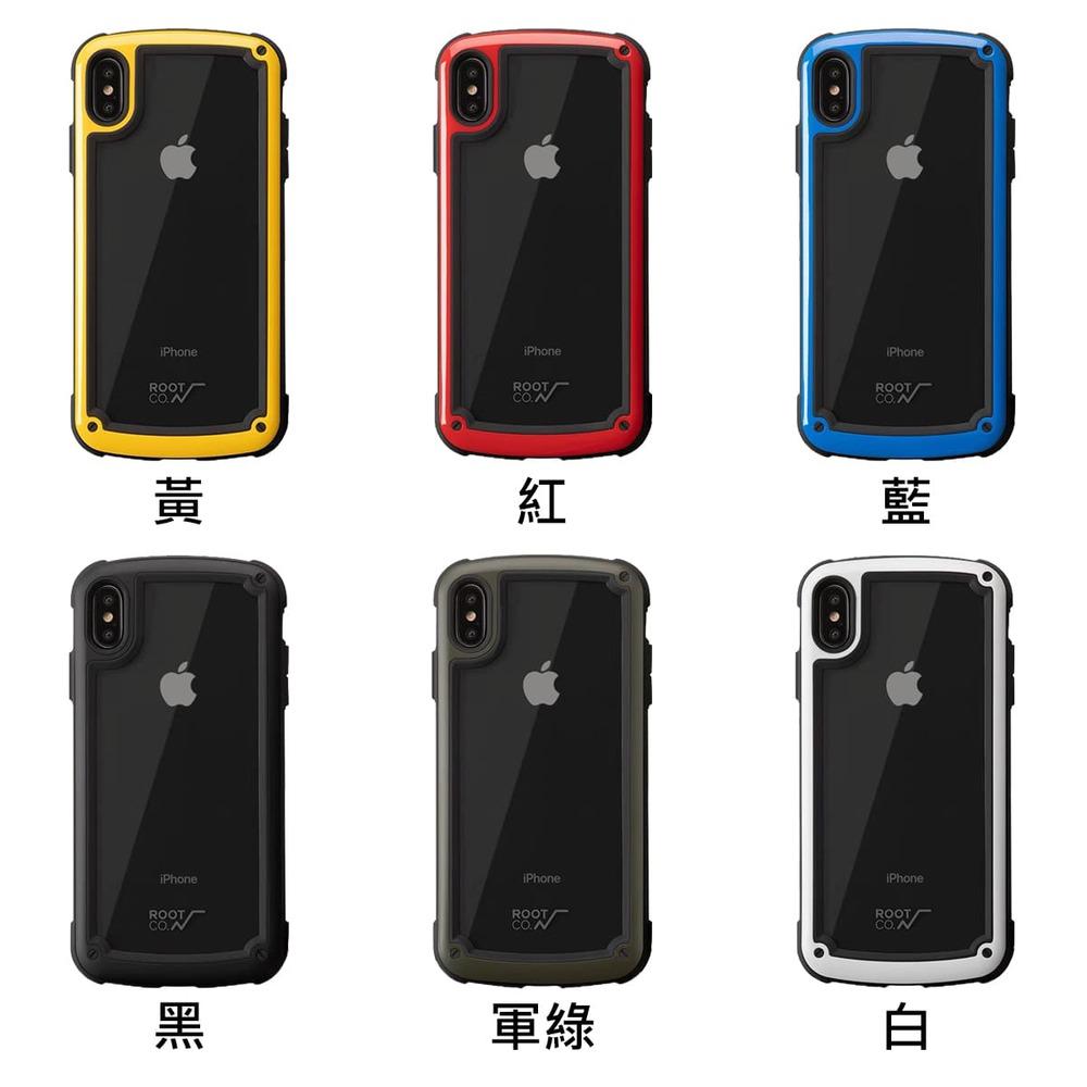 日本 ROOT CO.│iPhone Xs Max Tough & Basic 透明背板軍規防摔手機保護殼 - 共六色