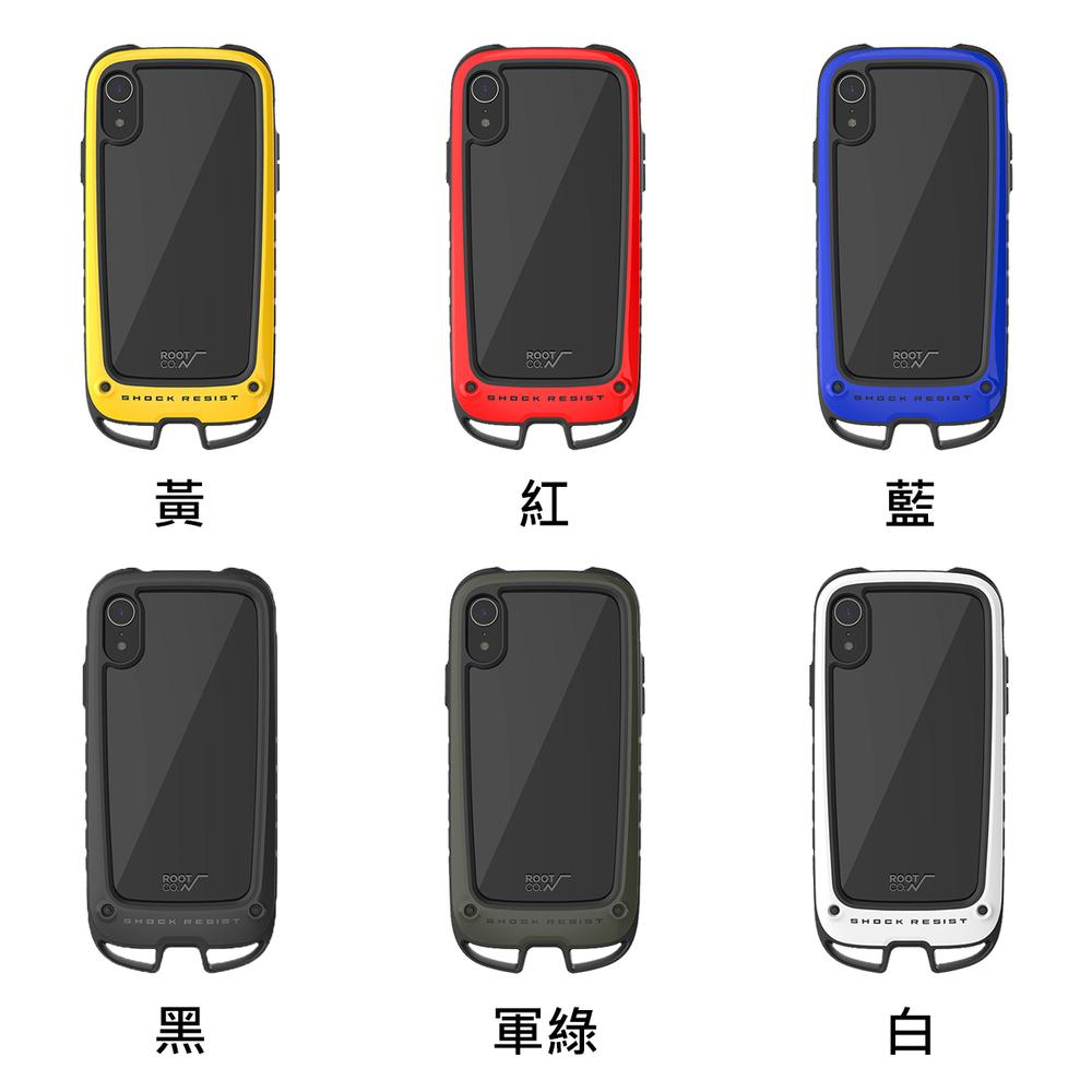 日本 ROOT CO.│iPhone XR Gravity Hold. 雙掛勾式軍規防摔手機保護殼 - 共六色