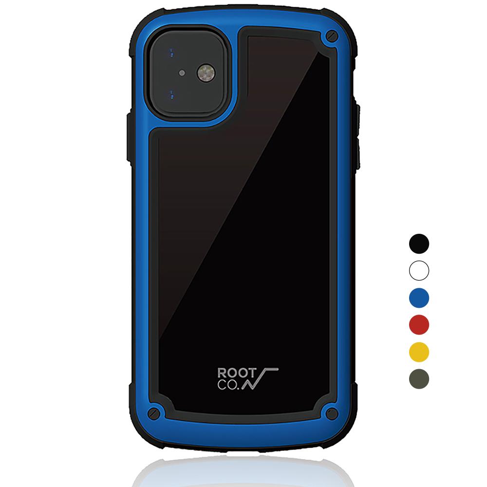 日本 ROOT CO.│iPhone 11 Tough & Basic 透明背板軍規防摔手機保護殼 - 共六色