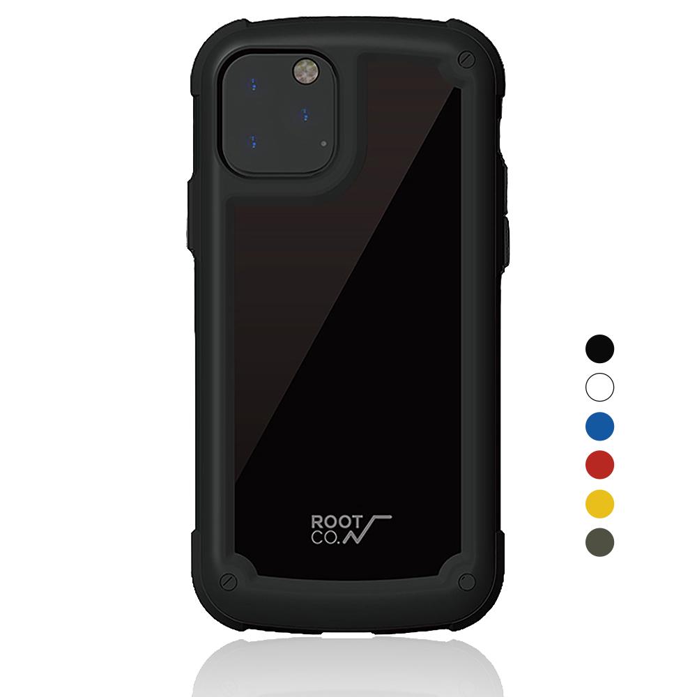 日本 ROOT CO.│iPhone 11 Pro Tough & Basic 透明背板軍規防摔手機保護殼 - 共六色