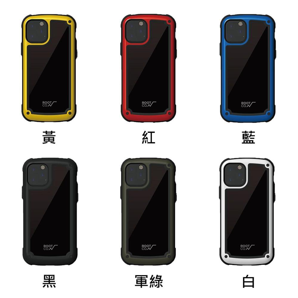 日本 ROOT CO.│iPhone 11 Pro Max Tough & Basic 透明背板軍規防摔手機保護殼 - 共六色